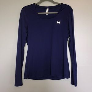 UNDERARMOUR Heatgear Purple Long Sleeve Shirt